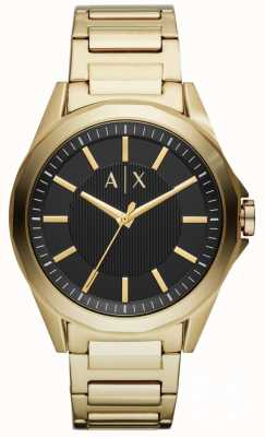 Armani Exchange Heren dress horloge goud pvd verguld AX2619