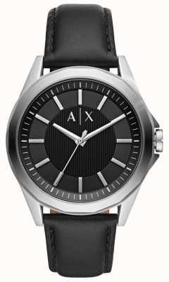 Armani Exchange Herenhorloge   zwarte lederen band   AX2621