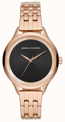 Armani Exchange Dames jurk horloge rose goud AX5606