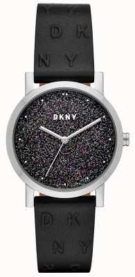 DKNY Dkny dames soho horloge zwart lederen band NY2775