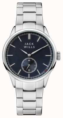 Jack Wills Heren forster blauwe wijzerplaat roestvrij stalen armband JW004BLSL