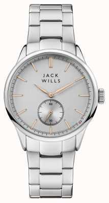 Jack Wills Heren zilver wijzerplaat roestvrij stalen armband JW004SLSL