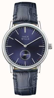 Jack Wills Blauwe buckley wijzerplaat lederen band, dames JW007BLSS