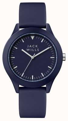 Jack Wills Heren unie blauwe wijzerplaat blauwe siliconen band JW009BLBL