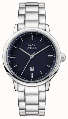Jack Wills Womens raleigh blue wijzerplaat roestvrij stalen armband JW010BLSS