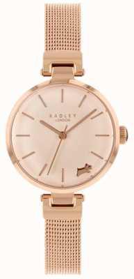 Radley Dameshorloge rosé gouden kast met horlogegaas RY4360