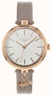 Radley Dames horloge spinneweb lederen band rosé gouden kast RY2728