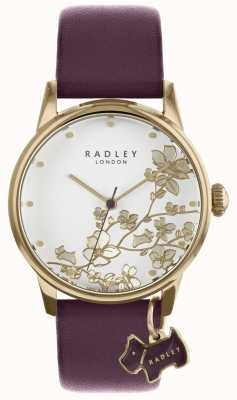 Radley Dameshorloge paarse leren lederen band RY2688