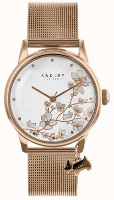 Radley Dames rosegoud verguld edelstalen horlogebandhorloge RY4348