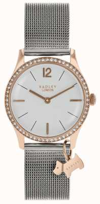 Radley Dames swarovski kristallen zilver witte wijzerplaat RY4351