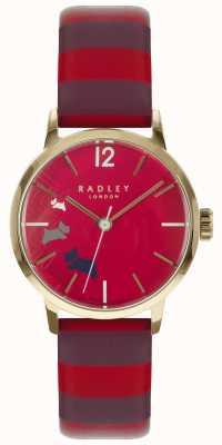 Radley Dames datahond claret gloss wijzerplaat leer RY2676