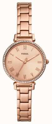 Fossil | dames | kinsey | kristal set | roségoudkleurig horloge | ES4447
