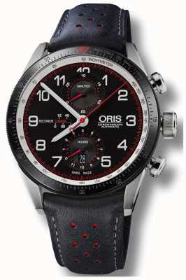 Oris Colobra limited edition automatisch chronograaf zwart leer 01 774 7661 4484-SET