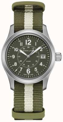 Hamilton Kaki field quartz green nato band H68201063