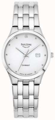 Bruno Sohnle Womens florenz | witte wijzerplaat | roestvrijstalen armband 17-13197-252