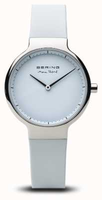 Bering Max René | gepolijst zilver | siliconen band 15531-904