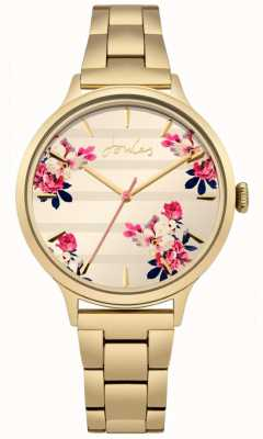 Joules Womens flora goud pvd plated armband floral wijzerplaat JSL002GM