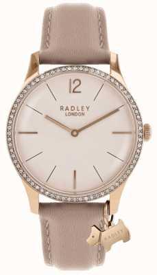 Radley Dames millbank roze lederen band RY2524