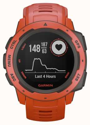 Garmin Instinct vlam rood outdoor gps siliconen band 010-02064-02