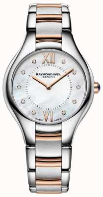 Raymond Weil Womens noemia diamanten wijzerplaat two tone armband 5132-SP5-00985