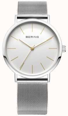Bering Klassieke collectie horloge met mesh band en krasbestendigheid 13436-001