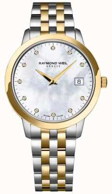 Raymond Weil Dames toccata diamant wijzerplaat two tone armband 5388-STP-97081