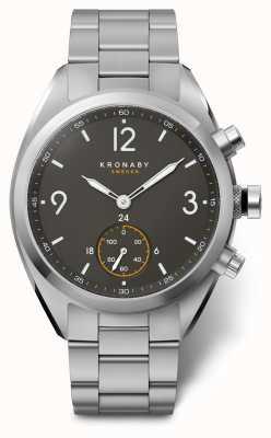 Kronaby 41 mm top zwarte wijzerplaat roestvrij stalen armband a1000-3113 S3113/1