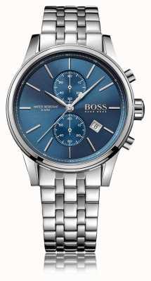 Hugo Boss Heren jet chrono roestvrij stalen armband blauwe wijzerplaat 1513384