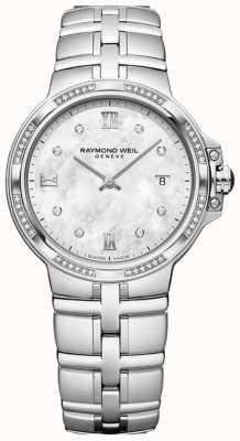Raymond Weil Parsifal dames quartz classic | 56 diamant | parelmoer 5180-STS-00995