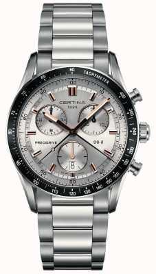 Certina Mens ds-2 | precidrive chronograaf | zilveren wijzerplaat | C0244471103101