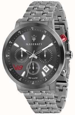 Maserati Heren gt 44 mm | grijze wijzerplaat | grijze roestvrijstalen armband R8873134001
