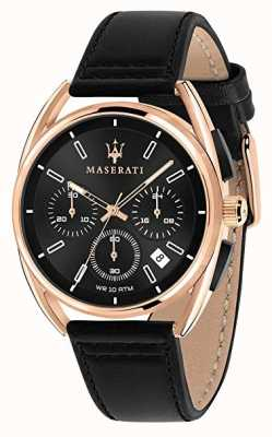 Maserati Trimarano heren 41 mm   roségouden kast   zwarte wijzerplaat   R8871632002