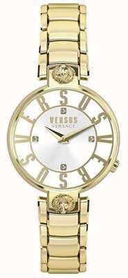 Versus Versace Kristenhof voor dames | zilveren wijzerplaat | goud roestvrij staal VSP490618