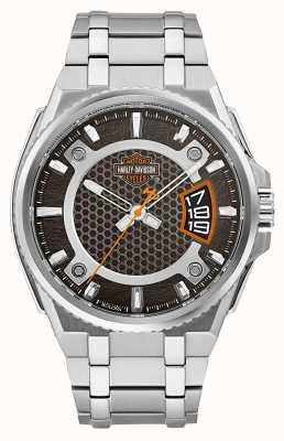 Harley Davidson Mannen enige tijd roestvrijstalen armband 76B180