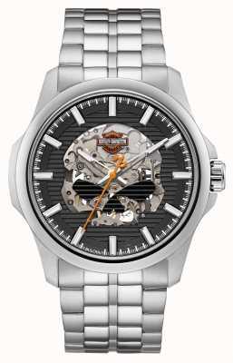 Harley Davidson Mens willie g schedel roestvrij stalen armband 76A158