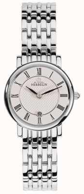 Michel Herbelin Classique voor dames | witte wijzerplaat | roestvrijstalen armband 16945/B01