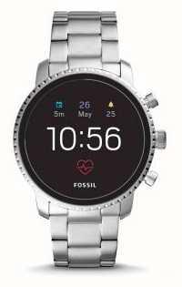 Fossil Verbonden q explorist hr smart watch roestvrij staal FTW4011