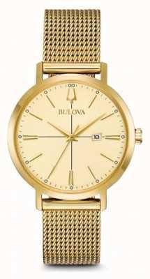 Bulova Dames aerojet klassieke vergulde mesh armband 97M115
