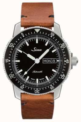 Sinn St sa i classic pilot horloge rundleer vintage leer 104.010-BL50205002401A
