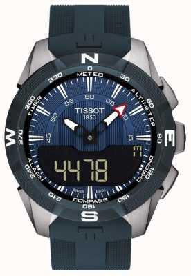 Tissot T-touch expert solar ii alarm chronogrijs rubberen band T1104204704100