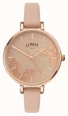 Limit | dames geheime tuinhorloge | perzik vlinder wijzerplaat | 60014