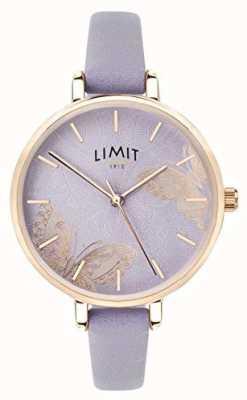 Limit | het geheime de tuinhorloge van vrouwen | paarse vlinderwijzerplaat | 60015