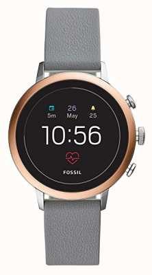 Fossil Verbonden q venture hr smart watch grijze siliconen band FTW6016