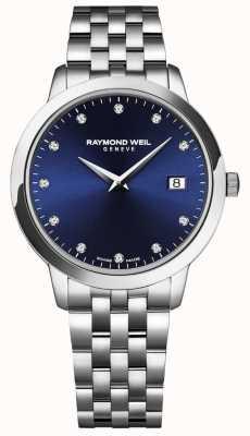Raymond Weil Toccata voor vrouwen | blauwe wijzerplaat | roestvrijstalen armband 5988-ST-50081