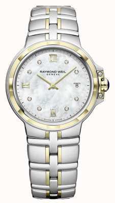 Raymond Weil Damespasta | diamanten wijzerplaat | twee toon 5180-STP-00995