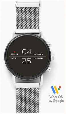Skagen Aangesloten smartwatch roestvrij stalen gaas SKT5102