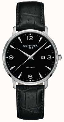 Certina Zwarte wijzerplaat in zwart lederen stijl ca. ca. C0354101605700