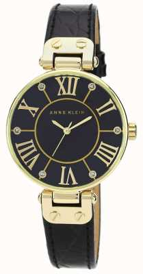 Anne Klein | womens signature horloge | zwart en goud | AK/N1396BMBK