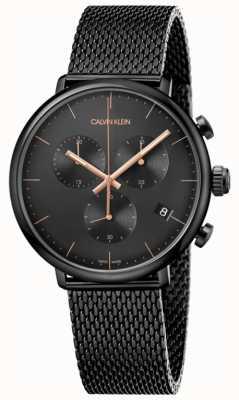 Calvin Klein   heren hoog middag zwart roestvrij staal   chronograaf   K8M27421