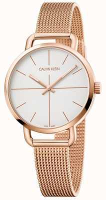 Calvin Klein | dames extensie horloge | rosegoud roestvrij gaas | K7B23626